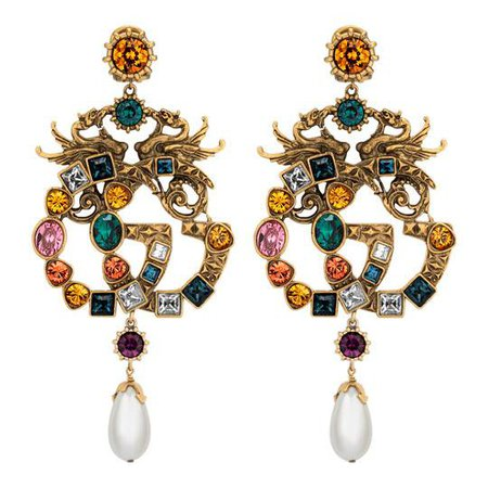Crystal Double G earrings - Gucci Fashion Jewelry For Women 515825I26858569