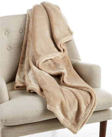 "Charter Club Cozy Plush 50"" x 70"" Throw, Created for Macy's - Blankets & Throws - Bed & Bath - Macy's"