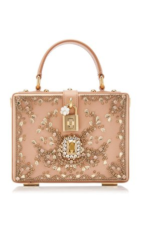 Embellished Satin Top Handle Bag By Dolce & Gabbana | Moda Operandi