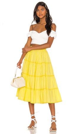 Tularosa Thelma Skirt in Yellow   REVOLVE