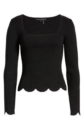 English Factory Scallop Hem Sweater | Nordstrom