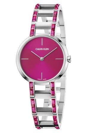 Calvin Klein Cheers Swarovski Bracelet Watch, 32mm | Nordstrom
