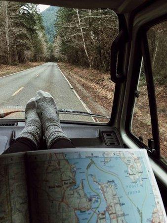 car ride adventure aesthetic