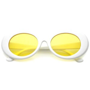 Clout Goggles Glasses Kurt Cobain Vintage Sunglasses Yellow Colored Lens | eBay
