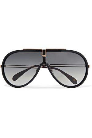Givenchy   D-frame acetate and rose gold-tone sunglasses   NET-A-PORTER.COM