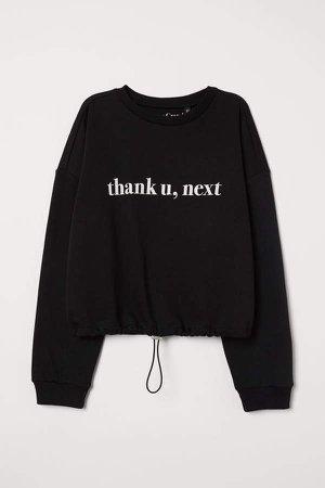 Drawstring Sweatshirt - Black