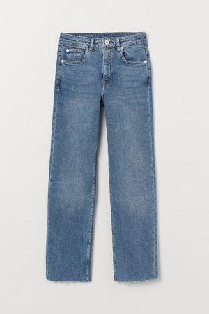 Straight High Ankle Jeans - Denim blue - | H&M US