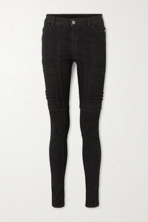 Nagakin Paneled Mid-rise Skinny Jeans - Black