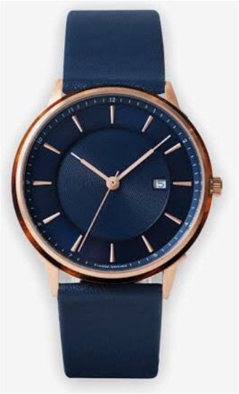 Navy Blue & Rose Gold