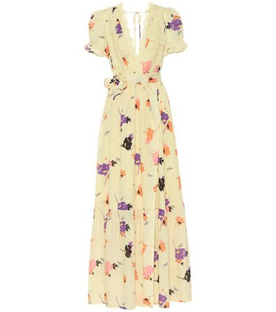 Exclusive to mytheresa.com – Floral-printed crêpe maxi dress
