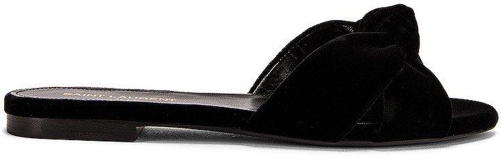 Power Sandals in Nero | FWRD