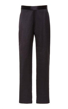 Narrow Cotton-Blend Pants by Mi Jong Lee | Moda Operandi
