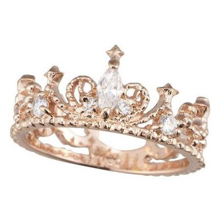 Rose Gold Tiara Crown Ring