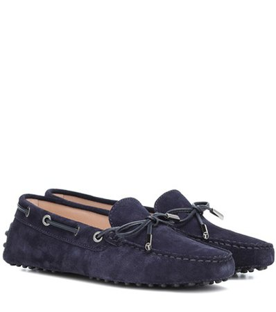 Heaven New Laccetto suede loafers