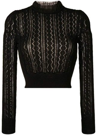 Alexa Chung ruffled neck knitted top