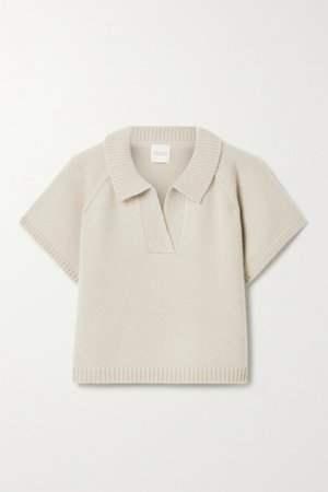 Taupe Ryan cropped cashmere sweater | Madeleine Thompson | NET-A-PORTER