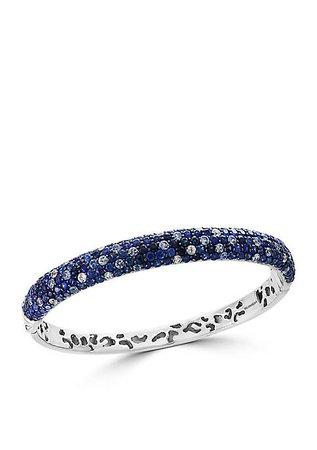 Effy® Sterling Silver Shades Of Blue Sapphire Bangle Bracelet