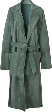 DoDo Bar Or Collie Oversized Shearling Robe Coat