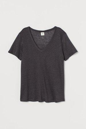 Linen Jersey Top - Gray