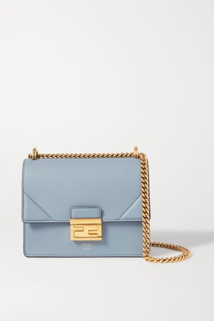Blue Kan U small leather shoulder bag | Fendi | NET-A-PORTER