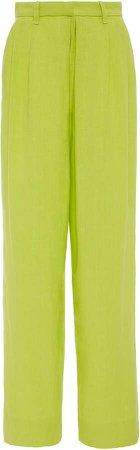 Eldora Pleated Hemp Straight-Leg Pants