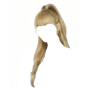 blonde hair png bangs half up