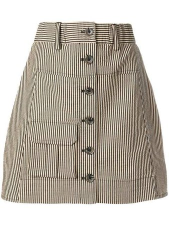 Ganni pinstriped mini skirt £166 - Buy Online - Mobile Friendly, Fast Delivery