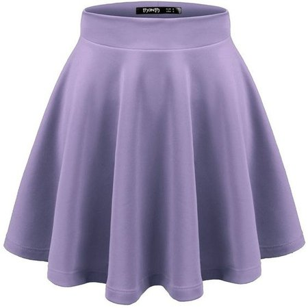 Pastel purple skater skirt