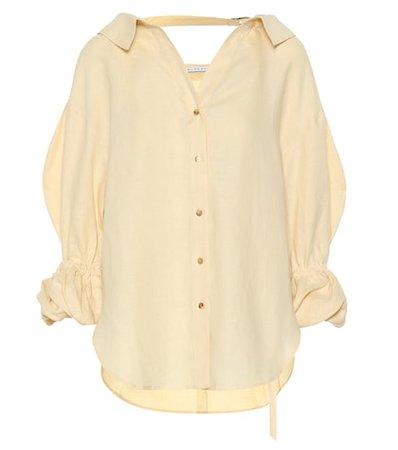 Amber linen shirt