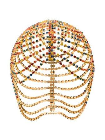 Area Gold Tone Crystal Chandelier Head Piece RE20A012 | Farfetch