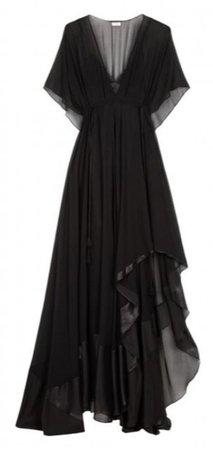 black flowy witch dress