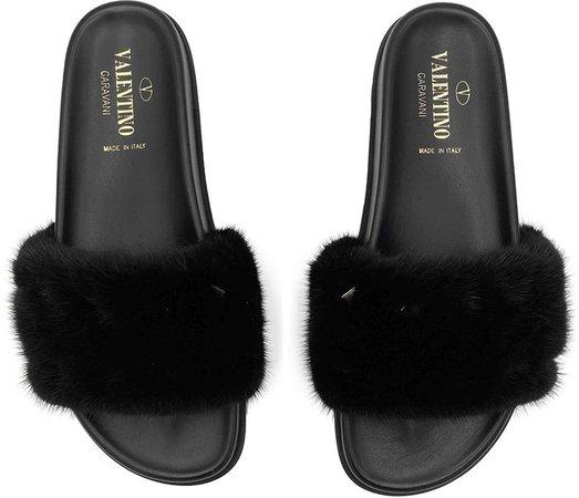 Black Mink Sandals