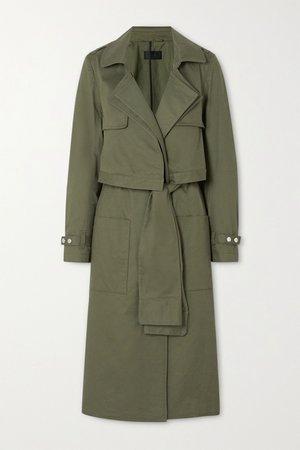 Army green Harlow cotton-gabardine trench coat | RtA | NET-A-PORTER
