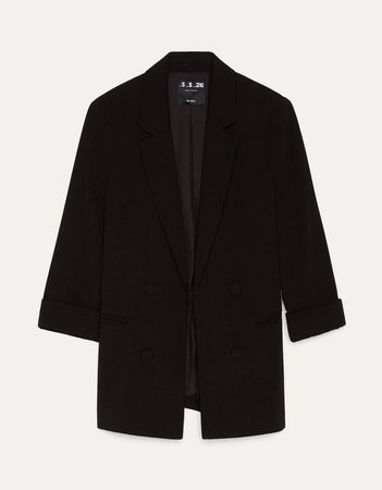 Rolled-up sleeve blazer - null - Bershka United States