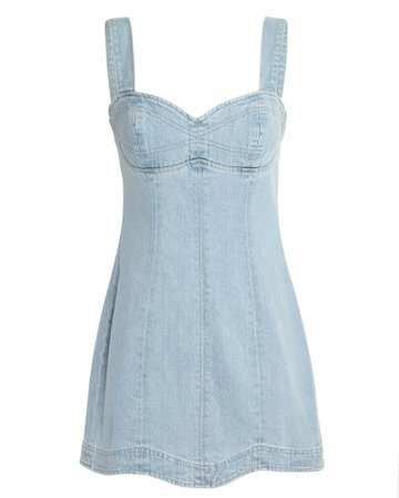 GRLFRND Eliana Denim Mini Dress | INTERMIX®