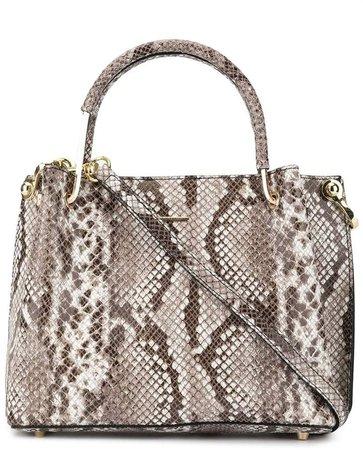 Loveless snakeskin embossed tote bag