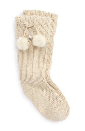 UGG UGGpure™ Pompom Tall Rain Boot Sock (Women) | Nordstrom