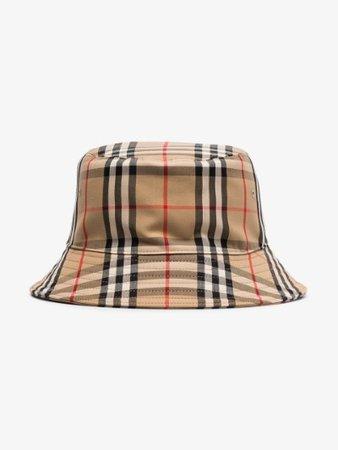 Burberry beige Vintage Check Bucket Hat | Browns