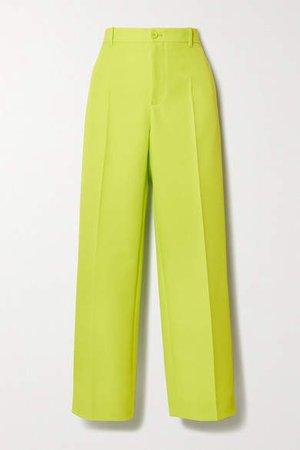 Neon Twill Straight-leg Pants - Yellow
