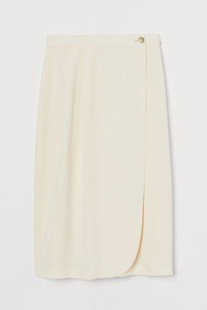 Wrap-front Skirt - White