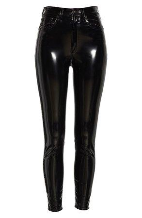 rag & bone Super High Waist Ankle Skinny Vinyl Pants | Nordstrom