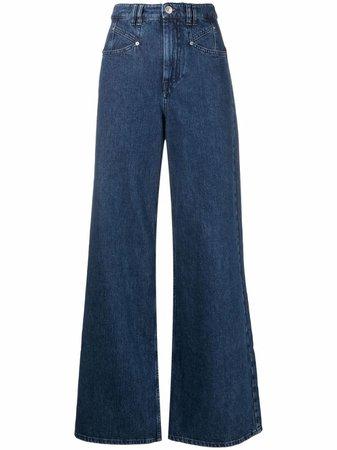 Isabel Marant Lemony wide-leg Jeans - Farfetch