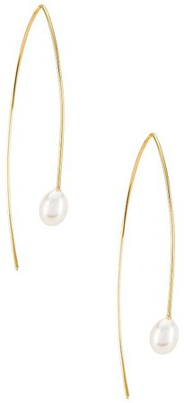 FAIRLEY Pearl Curve Earrings