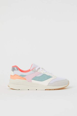 Mesh Sneakers - White