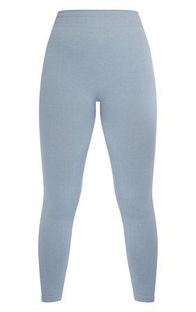 Prettylittlething Pale Blue Seamless Gym Legging | PrettyLittleThing USA