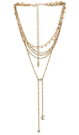 Ettika After Dark Necklace in Gold   REVOLVE