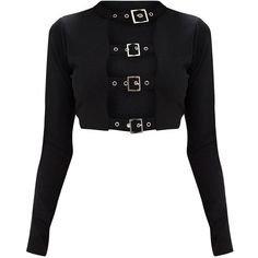 (7) Pinterest - Balmain - Glittered velvet black crop top ($1,295) | TOPS ETC.