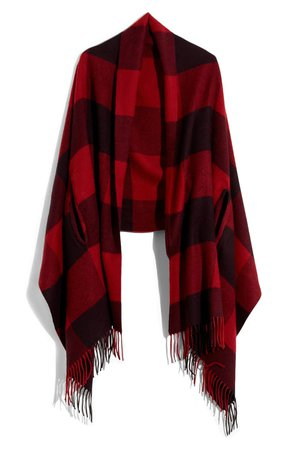 Madewell Buffalo Check Cape Scarf   Nordstrom