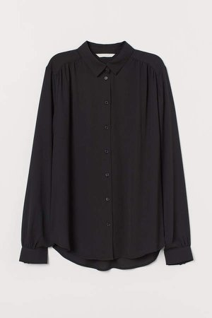 Long-sleeved Blouse - Black
