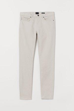 Skinny Fit Twill Pants - Light taupe - Men | H&M US